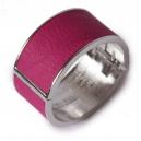 Rita leather armband pink