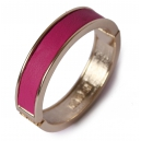 Evelyn leather armband pink