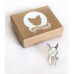 Zombie Bunny Pin