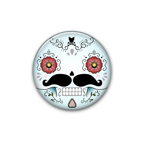 Big Button Calavera - CryWolf